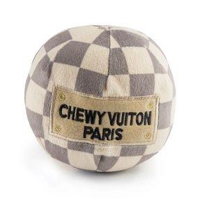 Checker Chewy Vuiton Ball Dog Toy